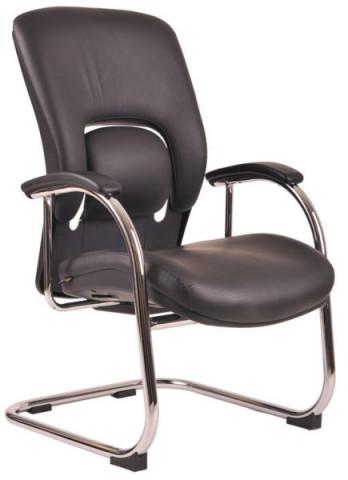 Jednací židle Vapor MEETING kůže - černá