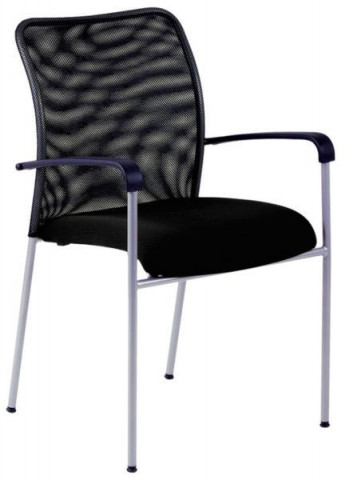Jednací židle - TRITON NET - černý sedák/černý opěrák