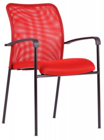 Jednací židle - TRITON BLACK - červená