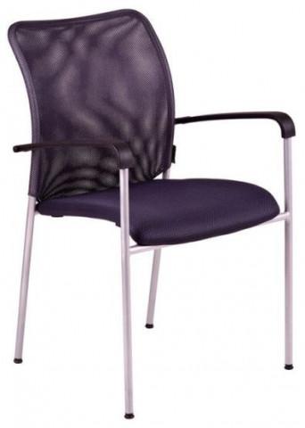 Jednací židle - TRITON GREY - látka šedá