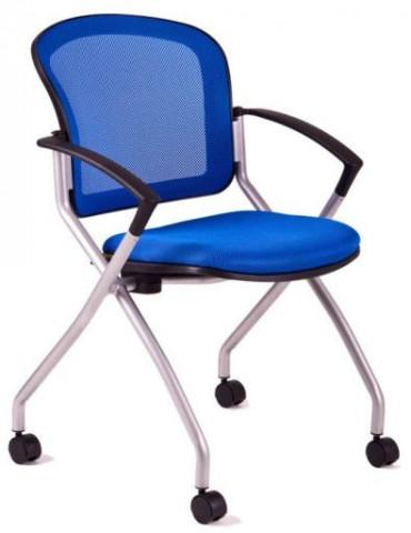 Jednací židle - METIS - Modrá DK90