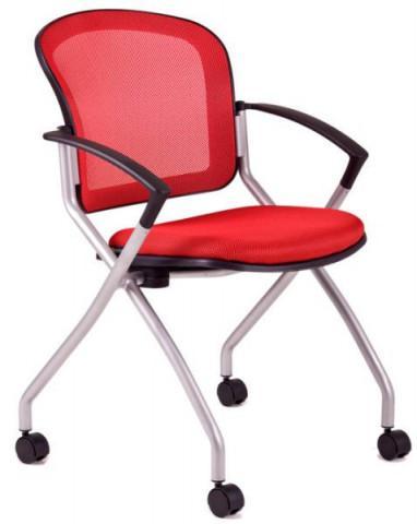 Jednací židle - METIS - Červená DK13