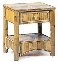 Autronic Bambusový noční stolek BA02-1