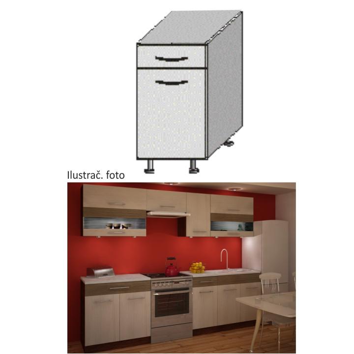 Tempo Kondela Kuchyňská skříňka JURA NEW IA D-40 S1 + kupón KONDELA10 na okamžitou slevu 10% (kupón uplatníte v košíku)