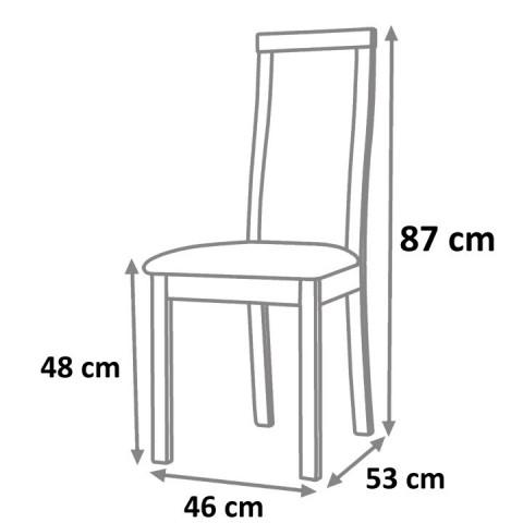 Jídelní židle DACIA - ořech