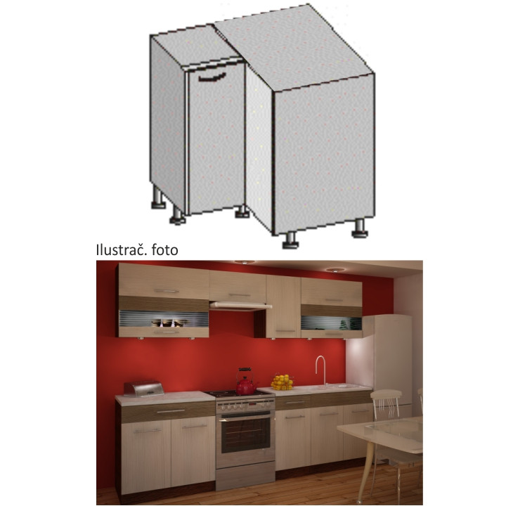 Tempo Kondela Kuchyňská skříňka JURA NEW IA DN-88*88 + kupón KONDELA10 na okamžitou slevu 10% (kupón uplatníte v košíku)