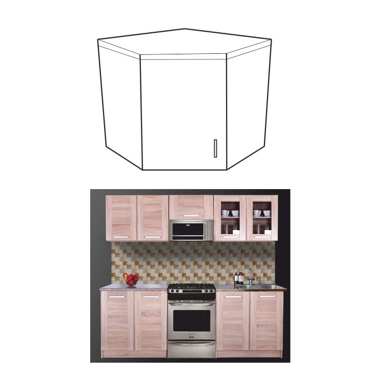 Tempo Kondela Kuchyňská skříňka NARCIS GN-56*56