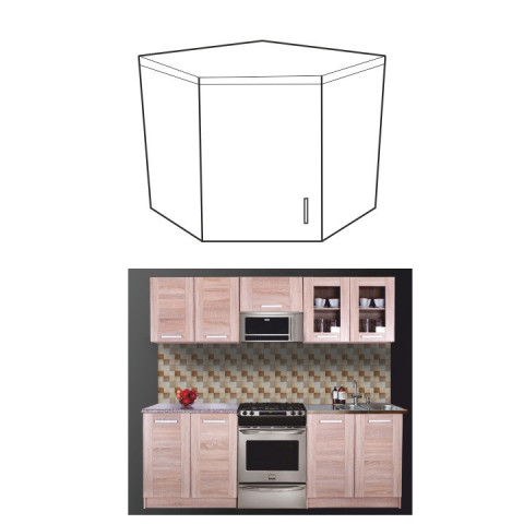 Kuchyňská skříňka NARCIS GN-56*56