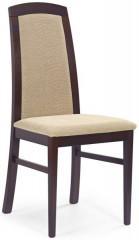 Jídelní židle Dominik - Tmavý ořech/béžová