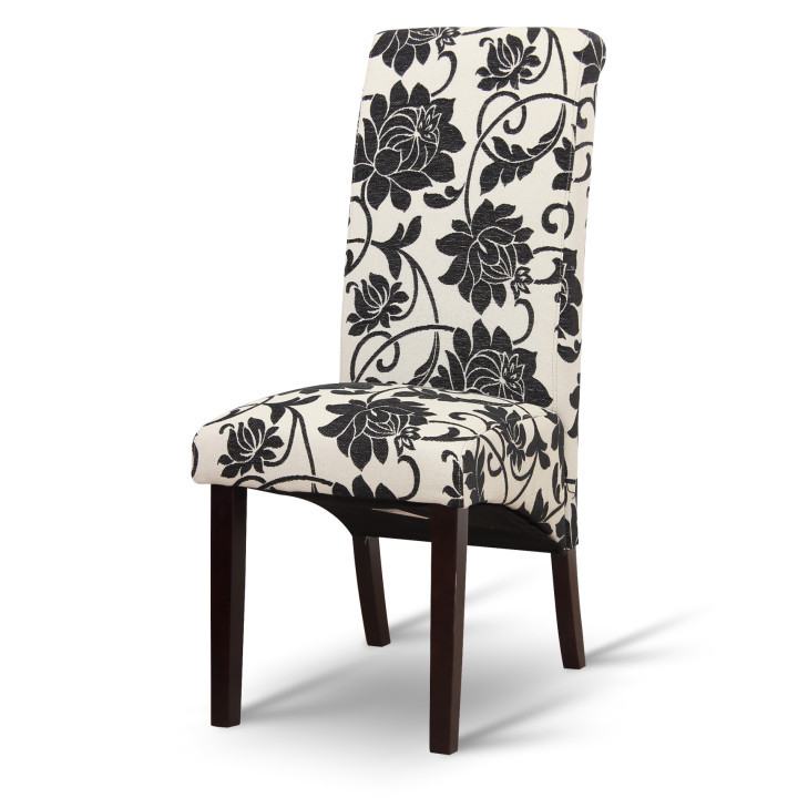 Tempo Kondela Jídelní židle JUDY - černobílé květy