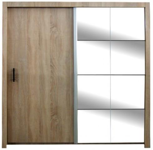 Šatní skříň Nova dub sonoma 200 cm