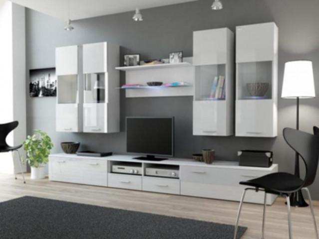 Obývací stěna DREAM I - bílá/bílá