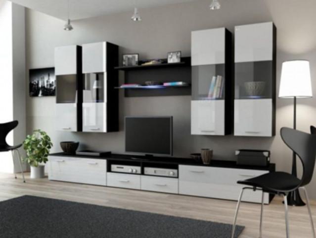 Obývací stěna DREAM I - černá/bílá