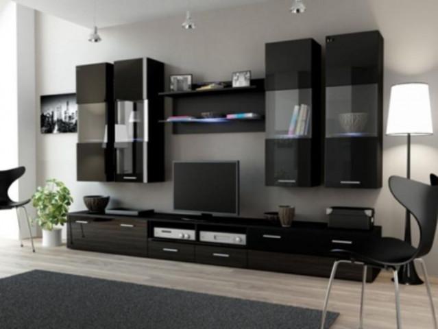 Obývací stěna DREAM I - černá/černá