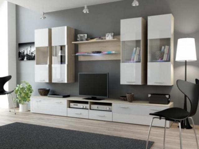 Obývací stěna DREAM I - dub Sono/bílá