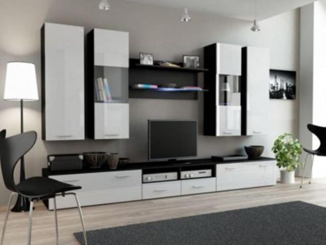 Obývací stěna DREAM II - černá/bílá