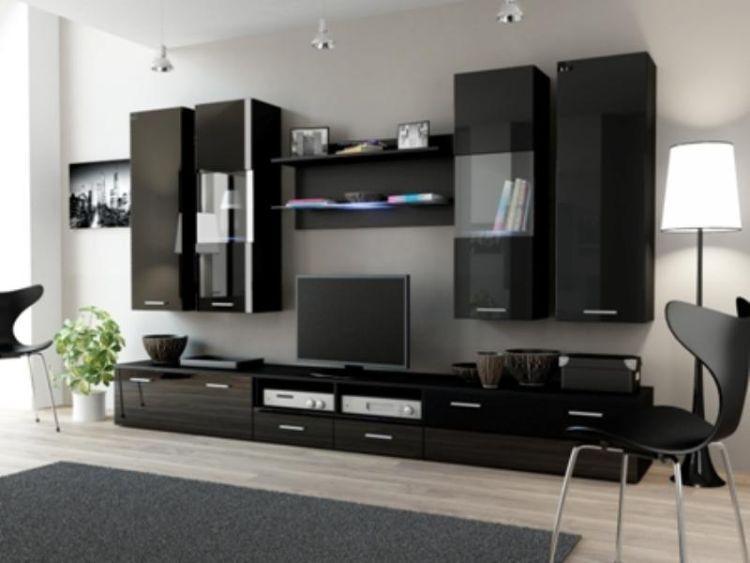 Cama Obývací stěna DREAM II - černá/černá