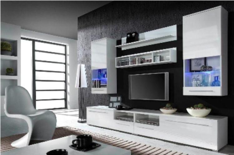 Cama Obývací stěna Luna - bílá/bílá