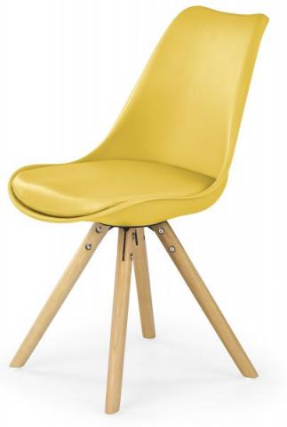 Jídelní židle K201 - žlutá