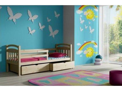 Vomaks Dětská postel DP 015 KOMPLET 200 cm x 80 cm Bezbarvý ekologický lak