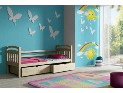 Vomaks Dětská postel DP 016 KOMPLET 200 cm x 80 cm Bezbarvý ekologický lak