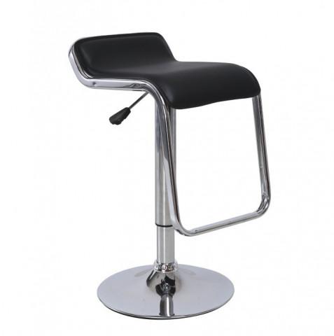Barová židle ILANA - černá ekokůže / chrom,