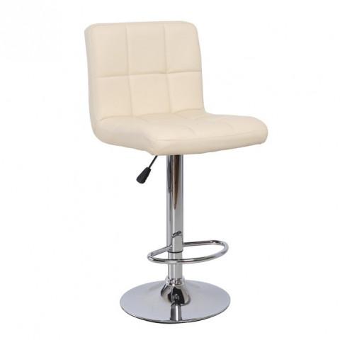 Barová židle KANDY - béžová ekokůže / chrom,