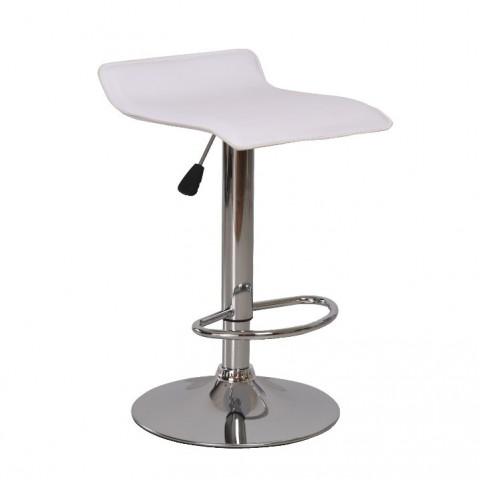 Barová židle LARIA - bílá ekokůže / chrom