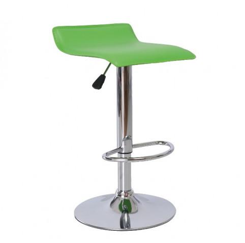 Barová židle LARIA - zelená ekokůže / chrom