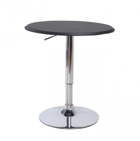 Barový stůl BRANY - chrom / černá
