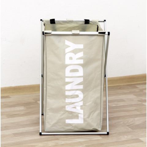 Látkový koš na prádlo LAUNDRY TYP 1 - šedobéžová