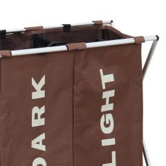 Látkový koš na prádlo LAUNDRY TYP 2 - tmavě hnědá