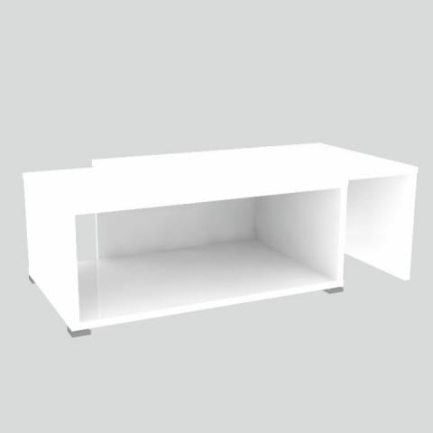 Konferenční rozkládací stolek DRON - bílá/bílá