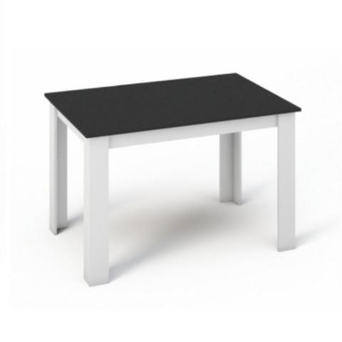 Jídelní stůl KRAZ 120x80 - Bílá / Černá