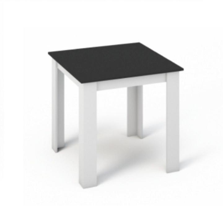 Tempo Kondela Jídelní stůl KRAZ 80x80 - Bílá / Černá + kupón KONDELA10 na okamžitou slevu 10% (kupón uplatníte v košíku)