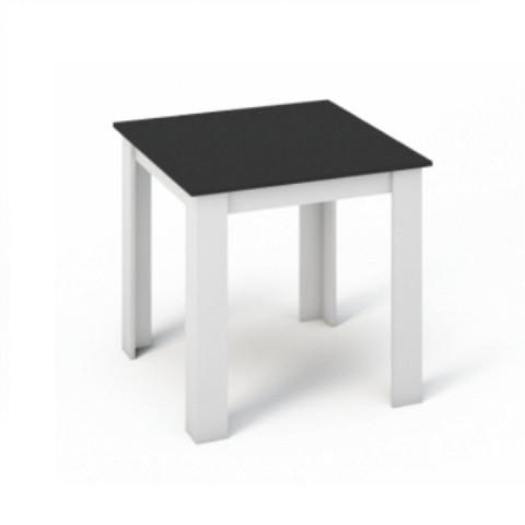Jídelní stůl KRAZ 80x80 - Bílá / Černá