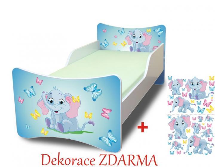Forclaire Dětská postel Sloník postel bez úložného prostoru 140x70cm