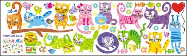 Dekorace na zeď FUNNY CATS