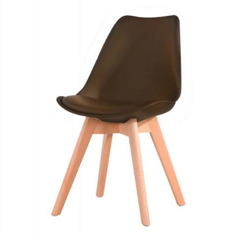 Jídelní židle BALI - tmavě hnědá