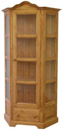 Dřevěná vitrína jednoduchá 00701
