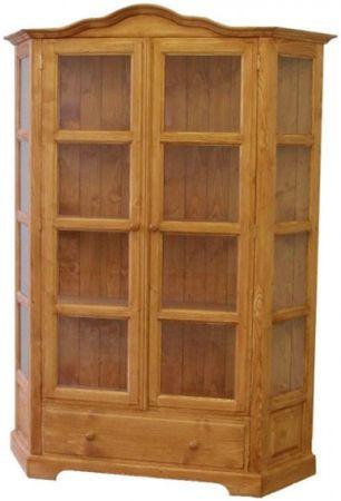 Dřevěná vitrína dvojitá 00702