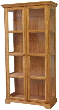 Unis Dřevěná vitrína Classic dvojitá 00703