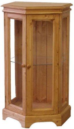 Dřevěná vitrína úhlová 00704