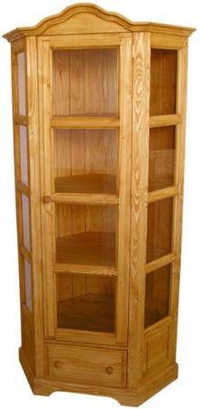 Unis Dřevěná vitrína jednoduchá rohová 00705