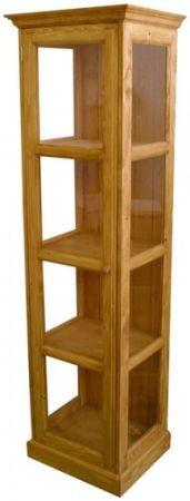 Dřevěná vitrína Classic jednoduchá 00706
