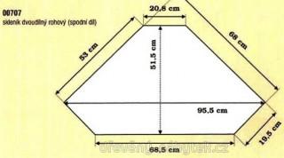 Dřevěný skleník dvojdílný rohový 00707