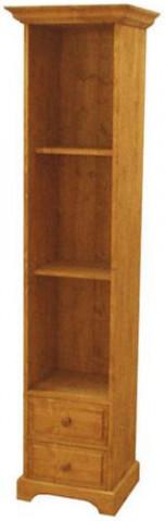 Dřevěná skříň vysoká policová 00172