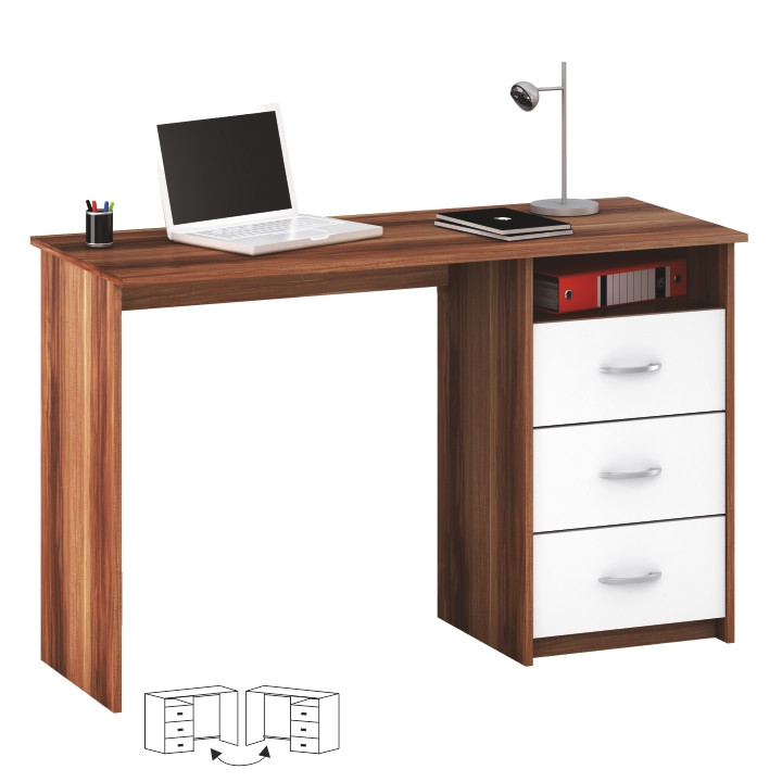 Tempo Kondela PC stůl LARISTOTE - švestka/bílá + kupón KONDELA10 na okamžitou slevu 3% (kupón uplatníte v košíku)