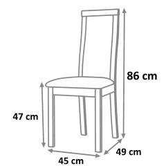 Jídelní židle DELMA - třešeň
