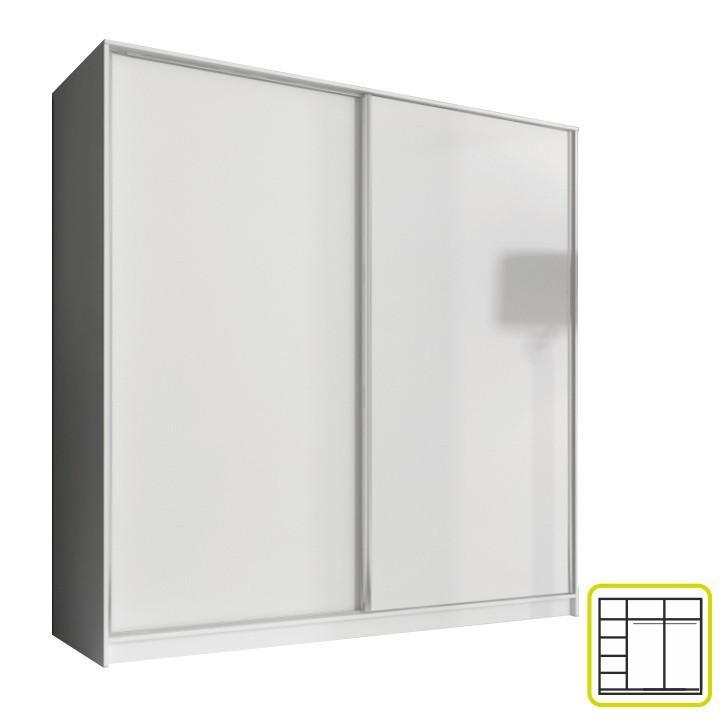 Skříň AVA 200 cm - bílá